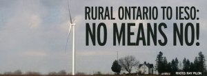 House and wind turbine at Brinston, just south of Ottawa. Propaganda meetings are not 'community engagement' says an Ontario citizen